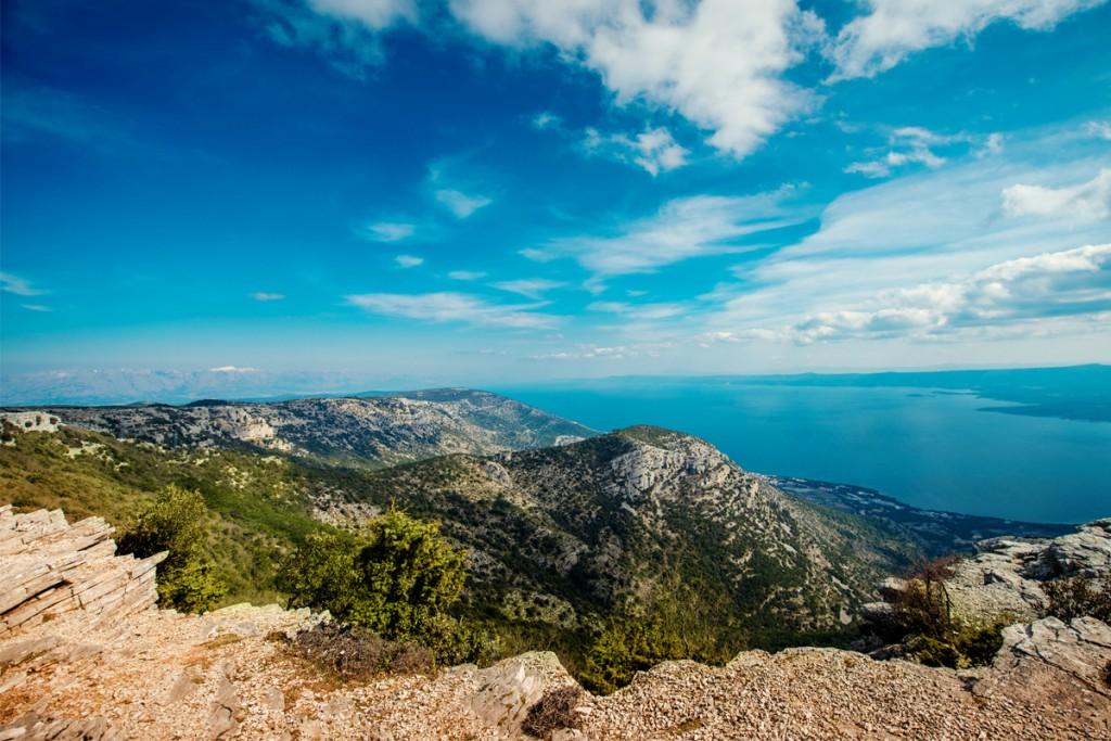 The view over Adriatic from Vidova Gora