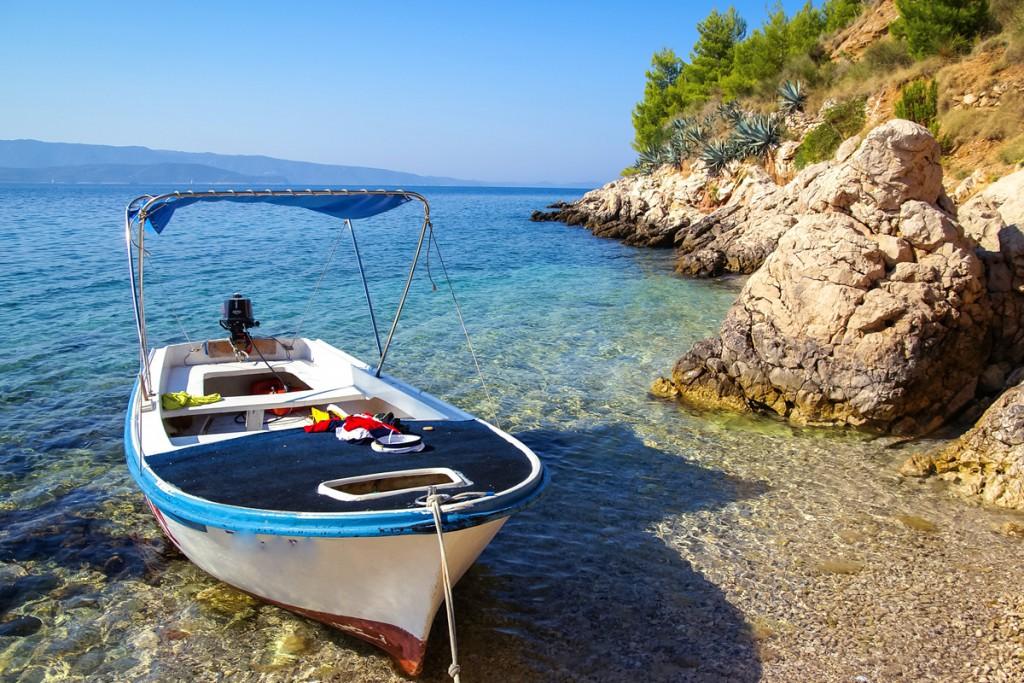 Hidden bay on Brač Island