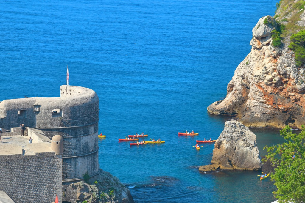 Things to do in Dubrovnik: Kayaking along the coastline