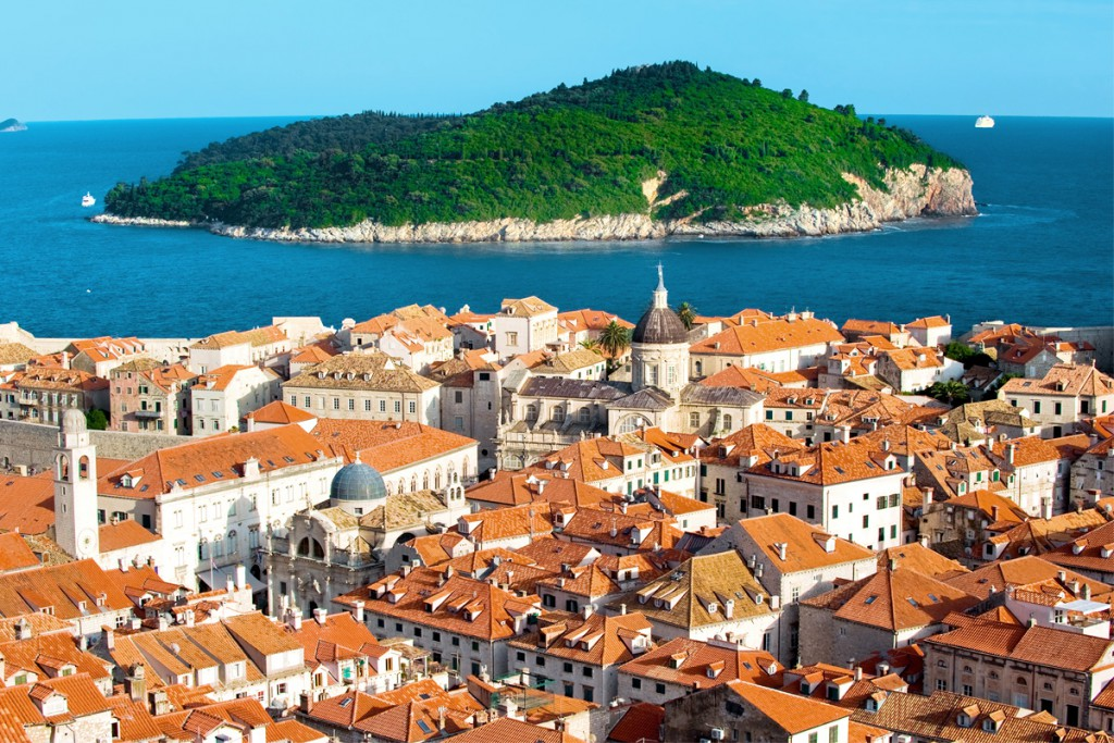 Things to do in Dubrovnik: a view to Lokrum Island