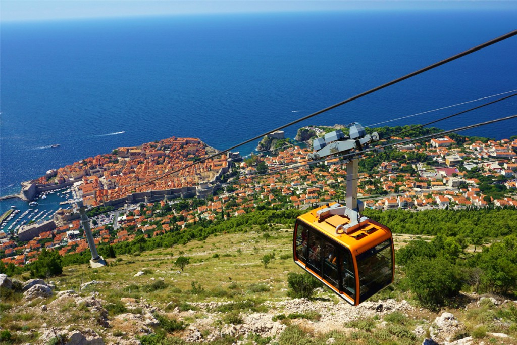Things to do in Dubrovnik: The cable car to Mt. Srđ