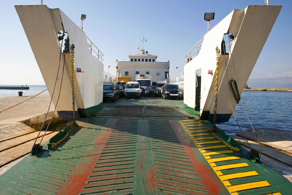 Boarding a ferry