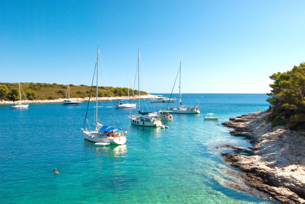 Things to do on Hvar Island: the bay at Pakleni Islands