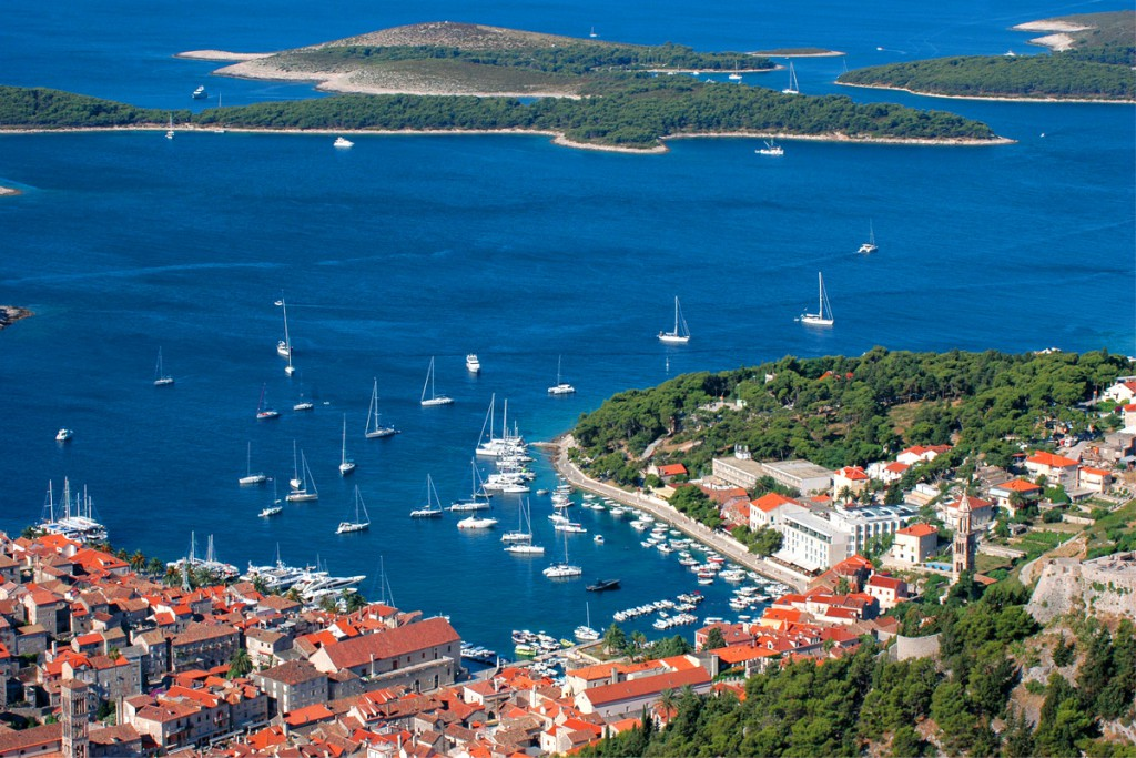 Hvar Island and the view to Pakleni Islands
