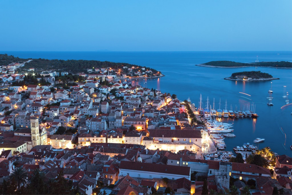 Town Hvar sunset