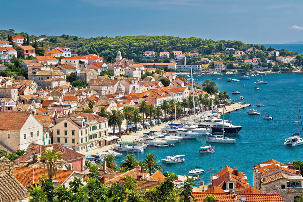 The harbor of Town Hvar