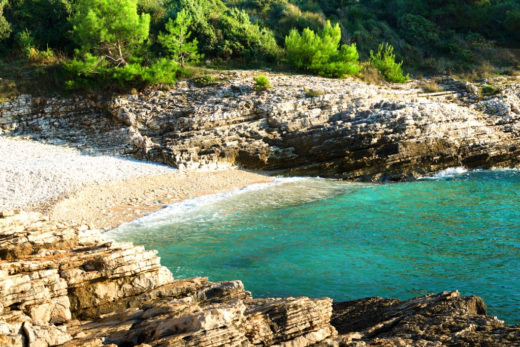 Beaches in Pula: The beach at Cape Kamenjak