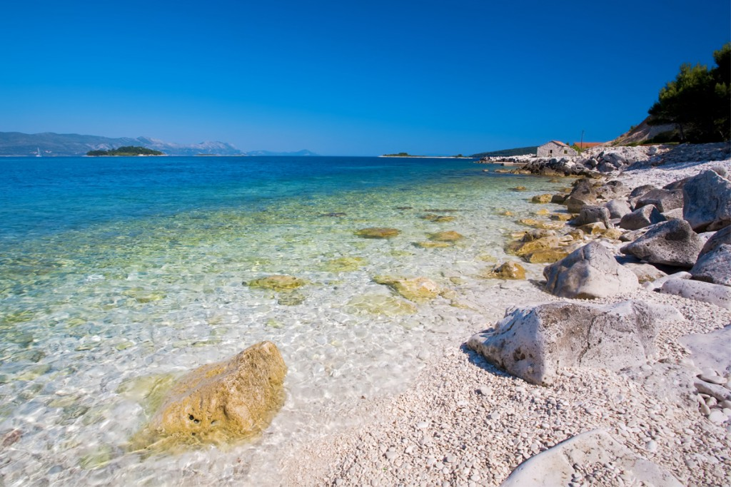 Amazing beach on Korčula Island