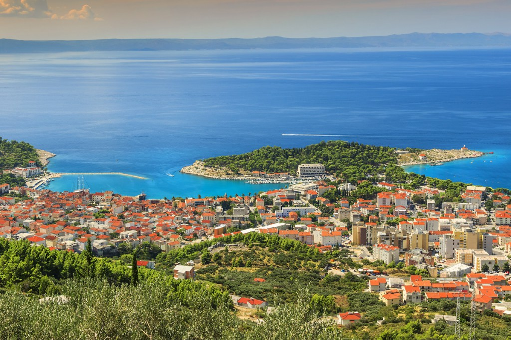 Panorama of town Makarska