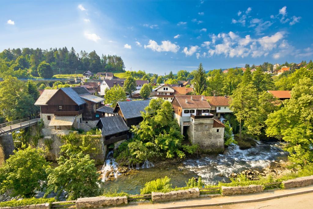 Rastoke village near Plitvice Lakes