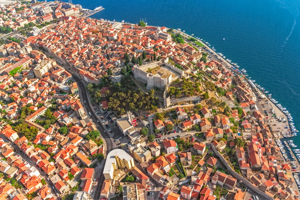 Get to know Šibenik: the aerial view to town