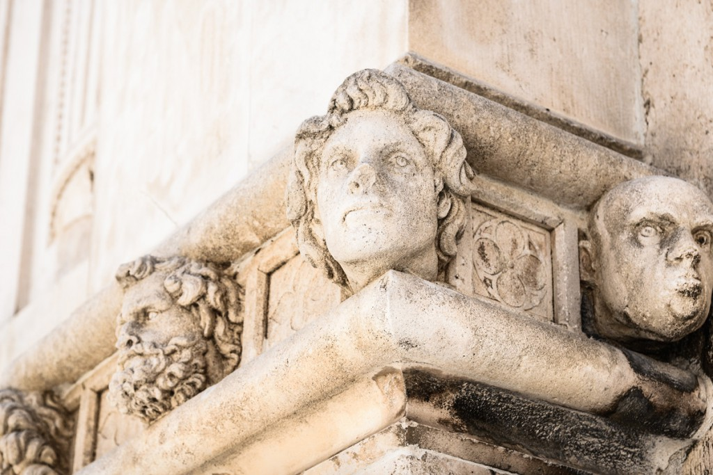 A detail from The Cathedral of St. Jamesin Šibenik