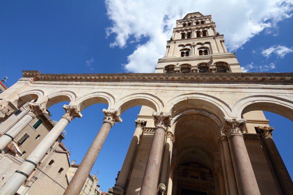 Things to do in Split: Peristil and the tower of St. Domnius Cathedral