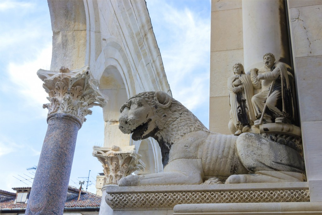 Things to do in Split: a detail in Diocletian's Palace