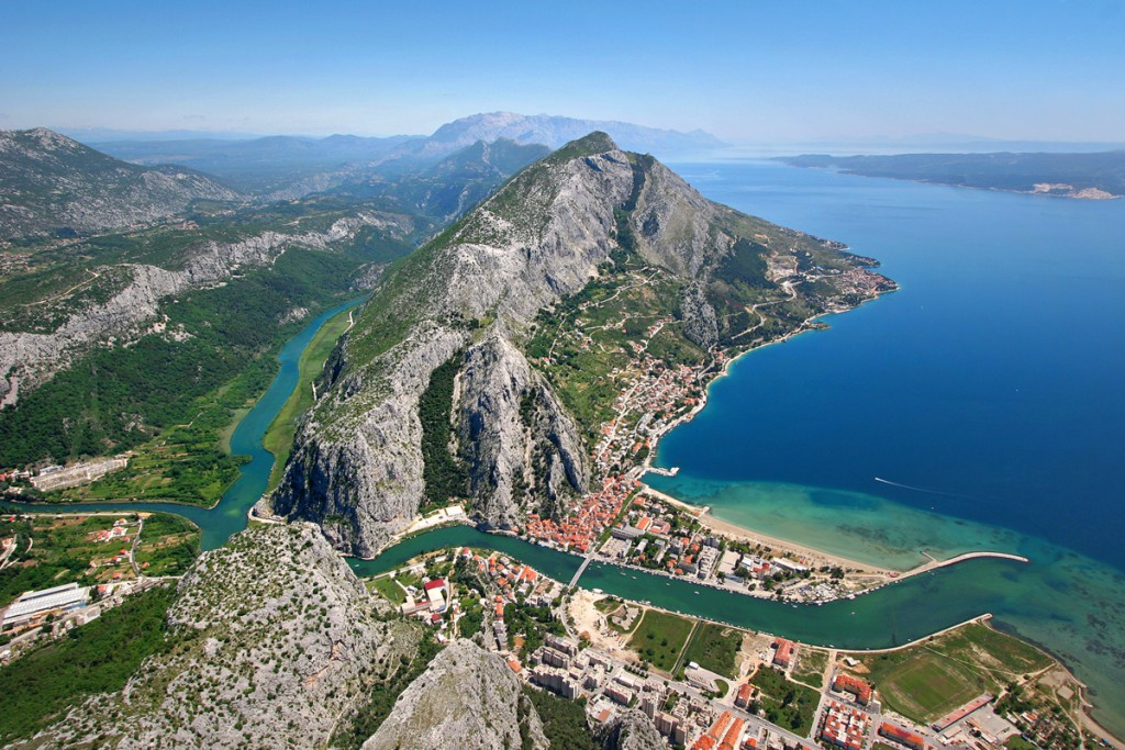 Town Omiš and Cetina River