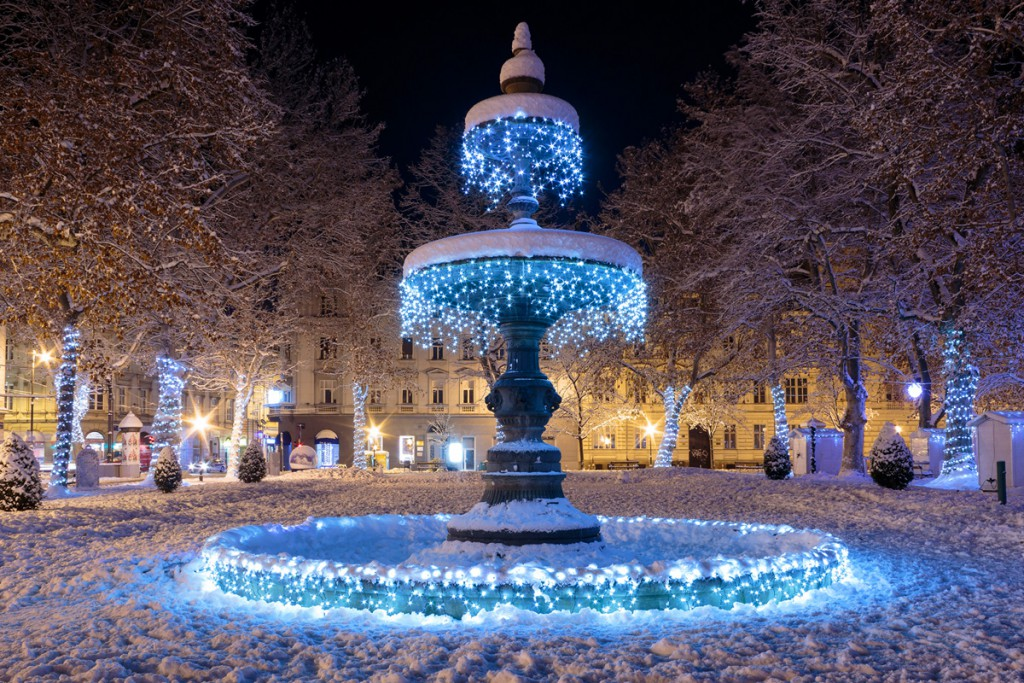 The capital Zagreb in winter