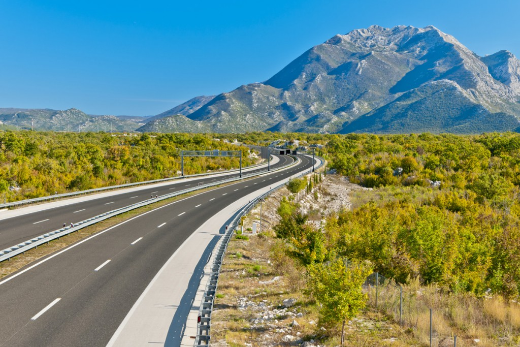 Travelling to Makarska Riviera on motorway Dalmatina