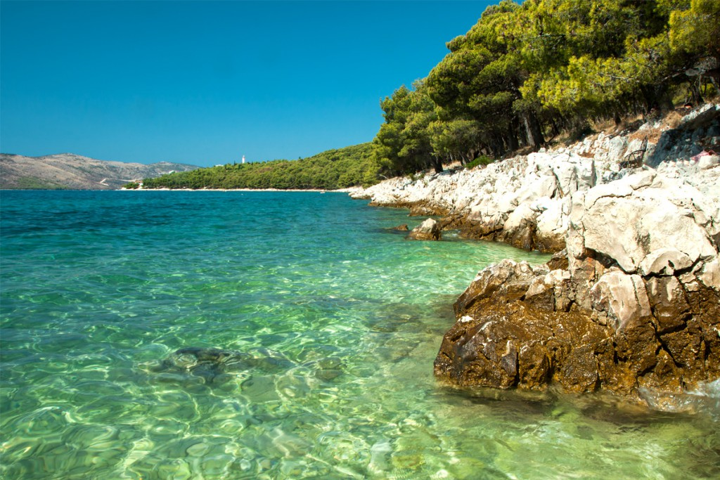 The beach near Trogir