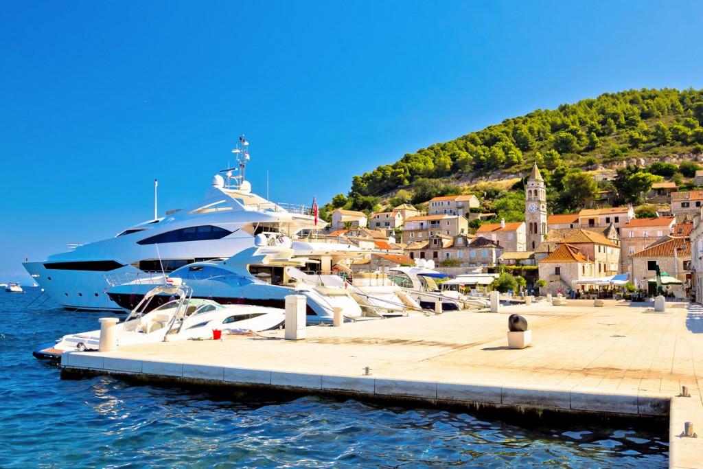 Yachts on Vis Island