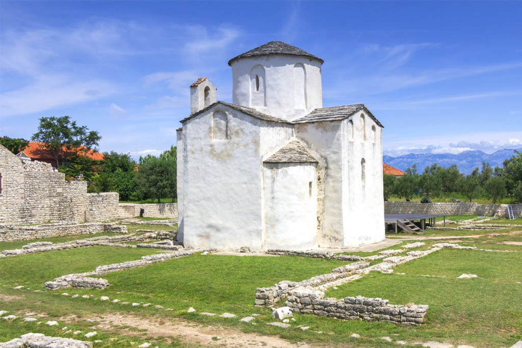 The old town Nin: the church of the Holy Cross from 9th century
