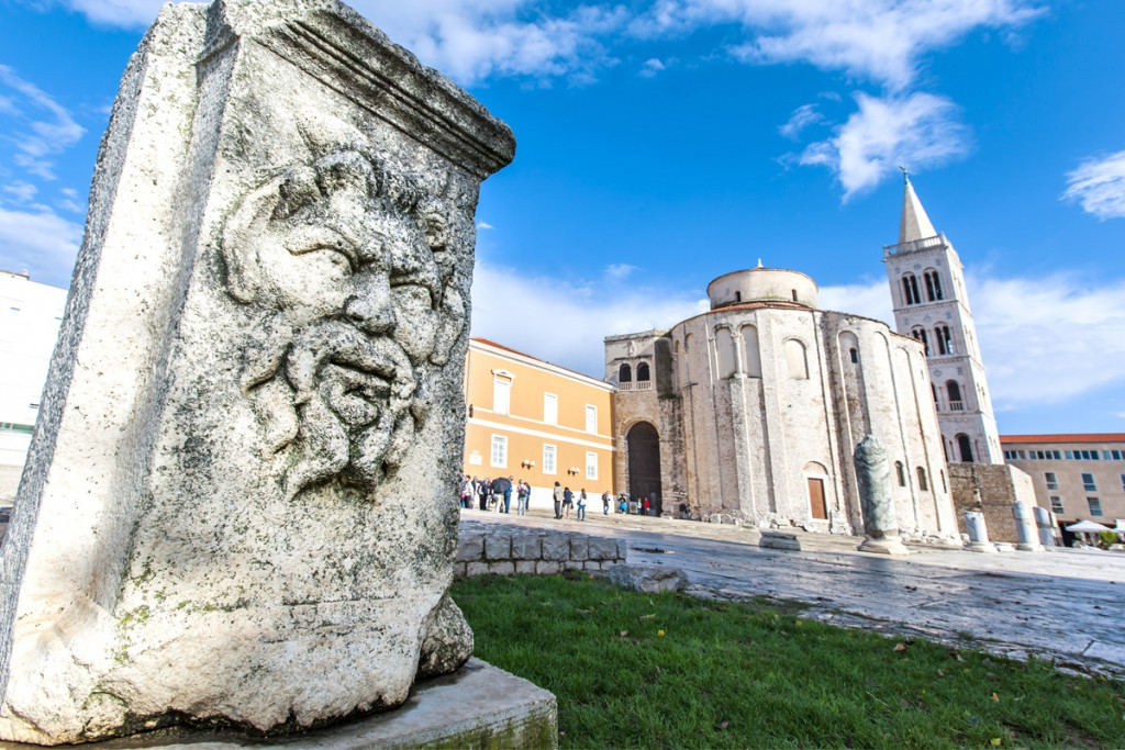 Things to do in Zadar: The Forum Square with St. Donat's Church
