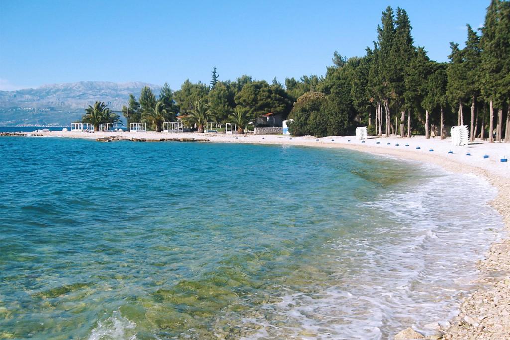 Vela Luka bay in town Supetar