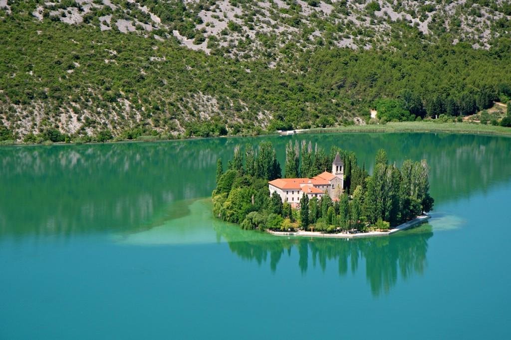 Krka Waterfalls: Visaovac Island with Monastery