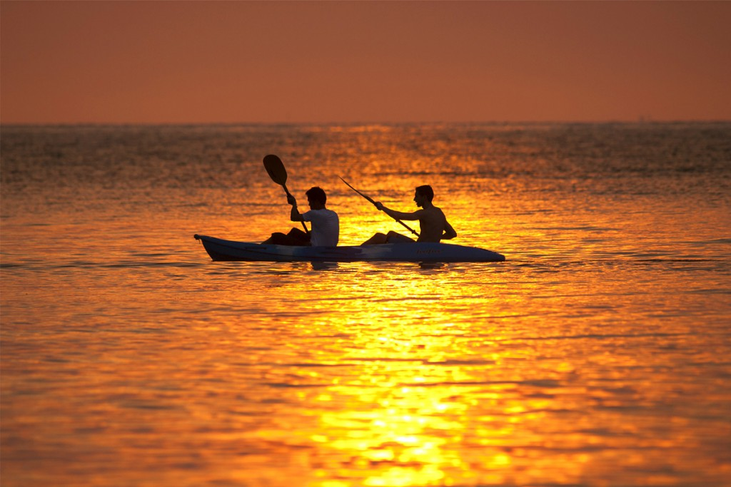 Sunset kayaking in Poreč