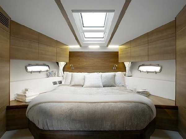 Luxury interior in a motor yacht
